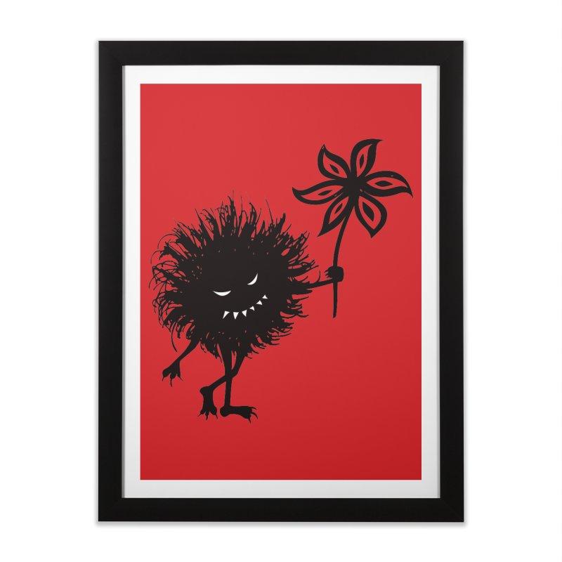 Evil Bug Gives Flower Home Framed Fine Art Print by Boriana's Artist Shop