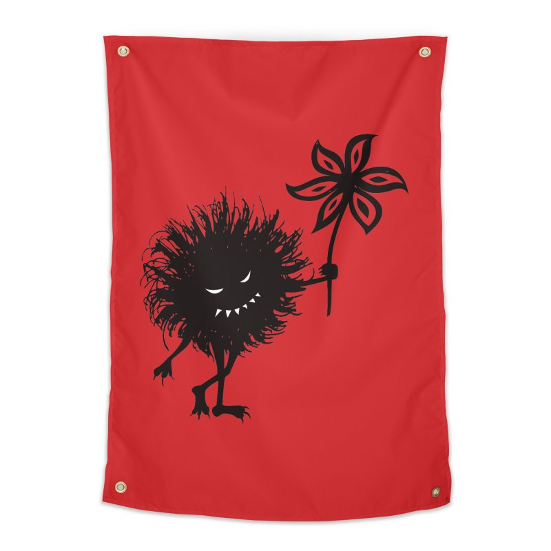 Evil Bug Gives Flower Home Tapestry by Boriana's Artist Shop