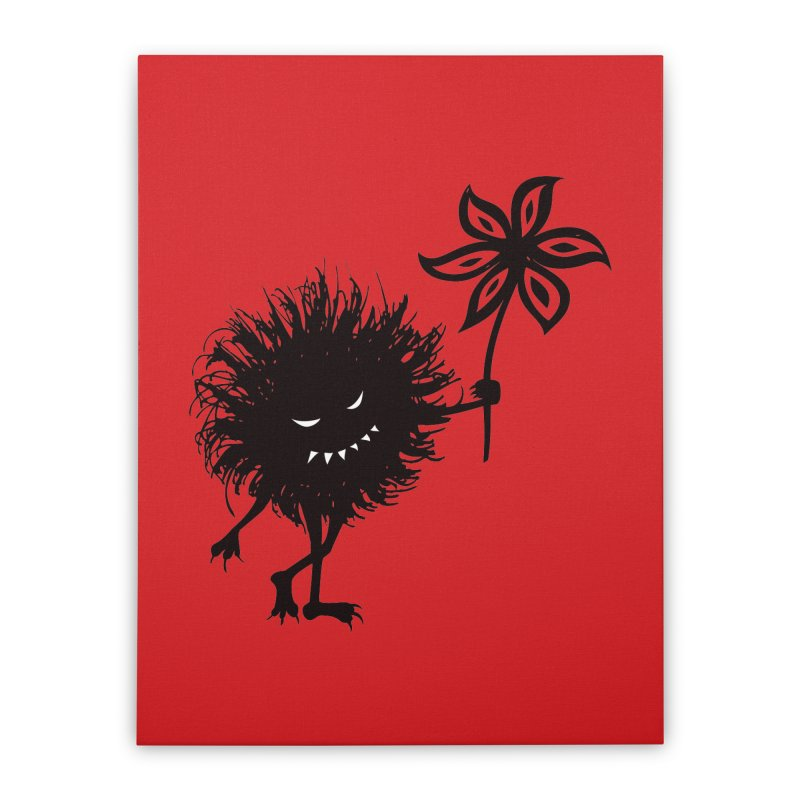 Evil Bug Gives Flower Home Stretched Canvas by Boriana's Artist Shop