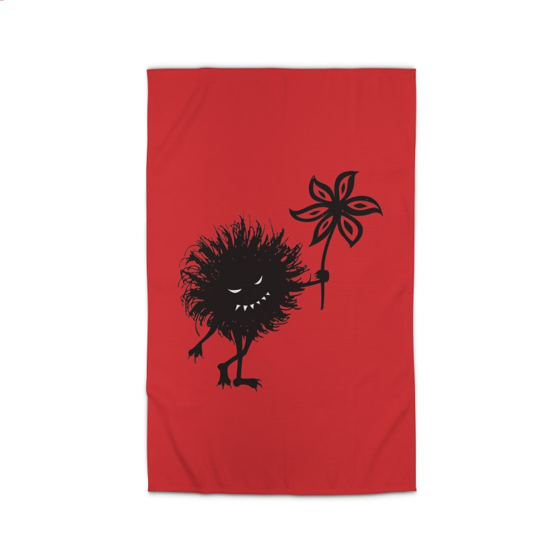 Evil Bug Gives Flower Home Rug by Boriana's Artist Shop