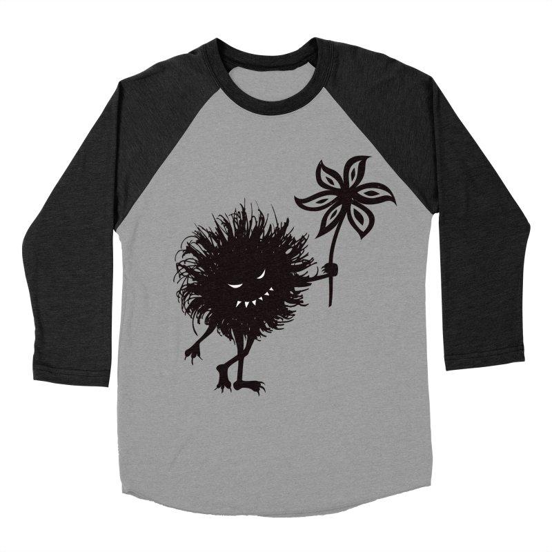 Evil Bug Gives Flower Men's Baseball Triblend T-Shirt by Boriana's Artist Shop