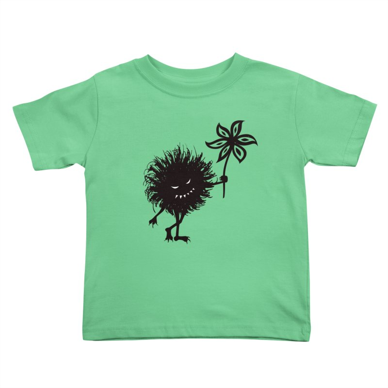 Evil Bug Gives Flower Kids Toddler T-Shirt by Boriana's Artist Shop