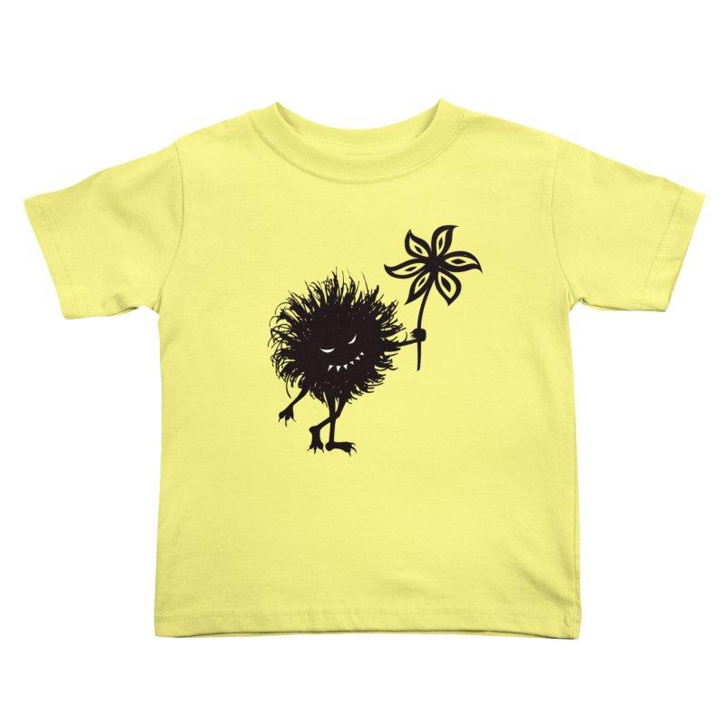 Evil Bug Gives Flower Kids Toddler T-Shirt by Boriana's Artist Shop