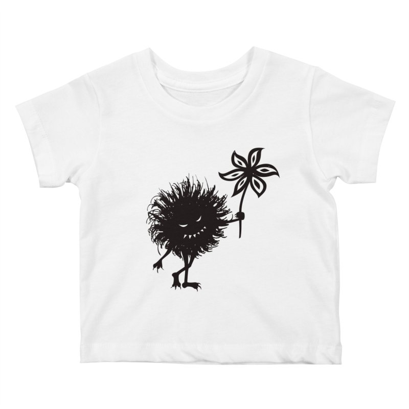 Evil Bug Gives Flower Kids Baby T-Shirt by Boriana's Artist Shop