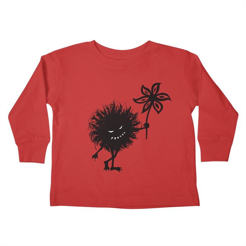 Evil Bug Gives Flower Kids Toddler Longsleeve T-Shirt by Boriana's Artist Shop