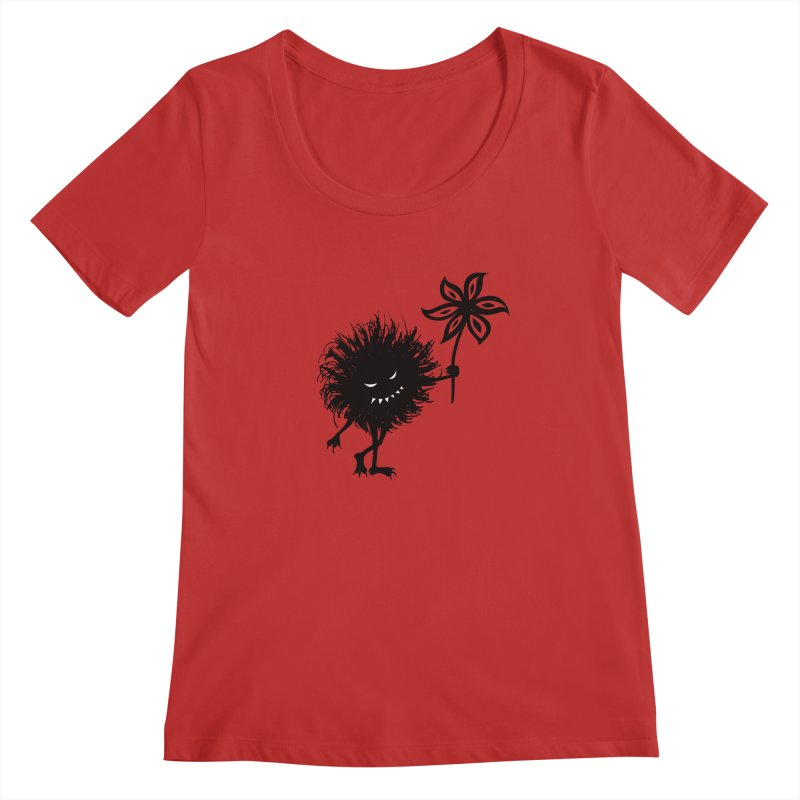 Evil Bug Gives Flower Women's Scoopneck by Boriana's Artist Shop