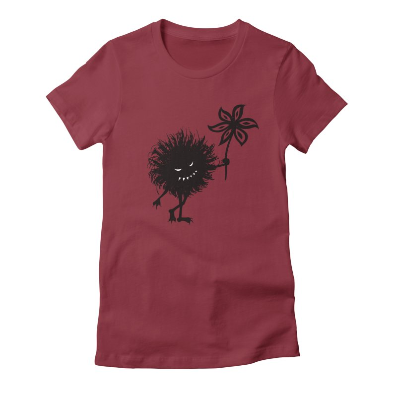 Evil Bug Gives Flower Women's Fitted T-Shirt by Boriana's Artist Shop
