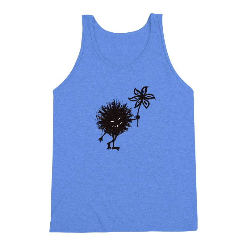 Evil Bug Gives Flower Men's Triblend Tank by Boriana's Artist Shop