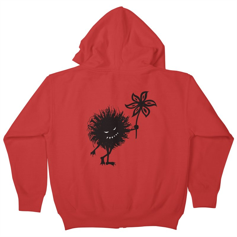 Evil Bug Gives Flower Kids Zip-Up Hoody by Boriana's Artist Shop