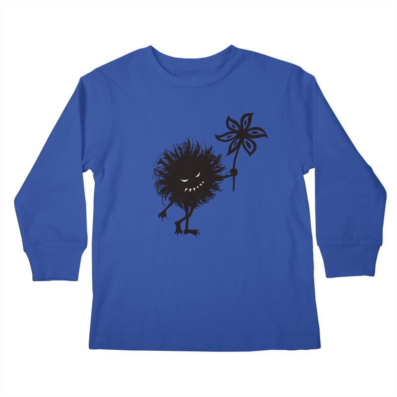 Evil Bug Gives Flower Kids Longsleeve T-Shirt by Boriana's Artist Shop