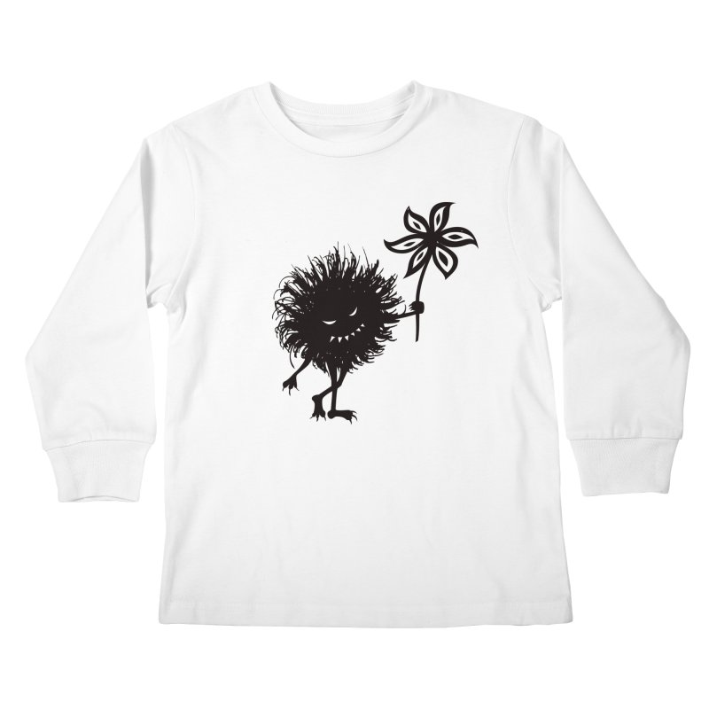 Evil Bug Gives Flower Kids Longsleeve T-Shirt by Boriana's Artist Shop