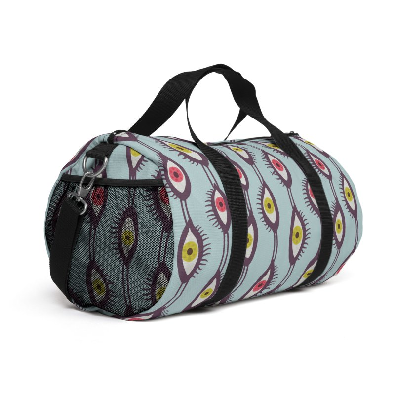 Mystical Eyes Colorful Psychedelic Pattern Accessories Bag by Boriana's Artist Shop