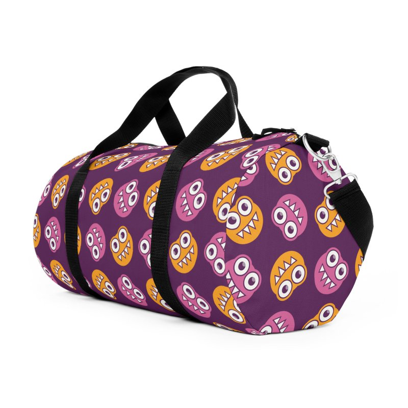 Cute Bugs Pattern In Purple Pink And Orange Accessories Bag by Boriana's Artist Shop