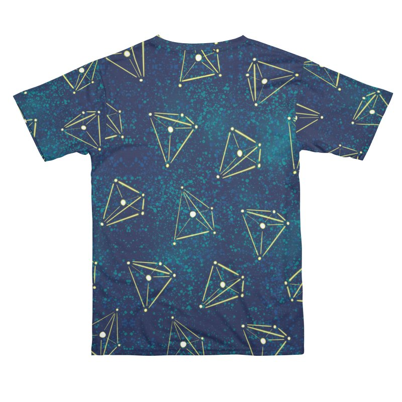 Chemistry Constellations Starry Sky Space Geometry Men's Cut & Sew by Boriana's Artist Shop