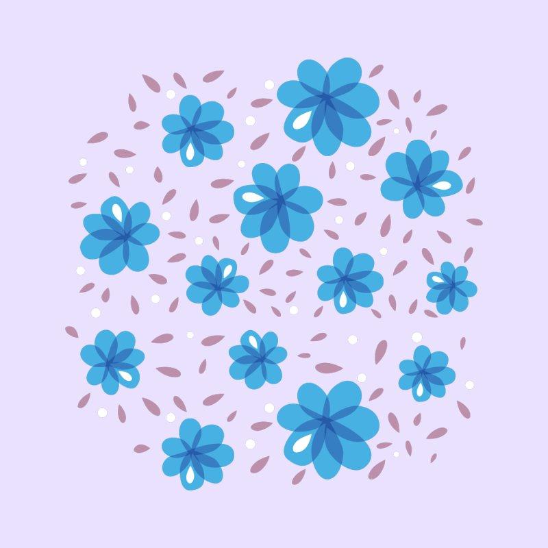 Gentle Blue Flowers Pattern Accessories Bag by Boriana's Artist Shop