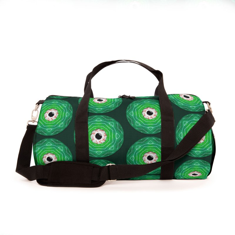 Creepy Eye Staring Through A Green Hole Accessories Bag by Boriana's Artist Shop