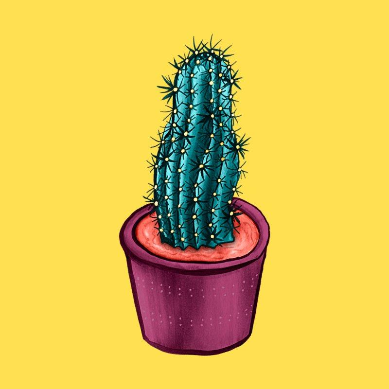 Funny Cactus In Alien Soup Pot Accessories Bag by Boriana's Artist Shop