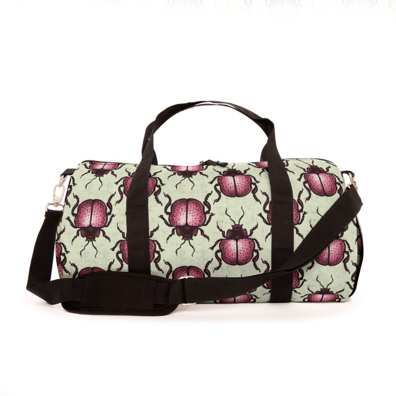 Pink Beetle With Dots Insect Art Accessories Bag by Boriana's Artist Shop