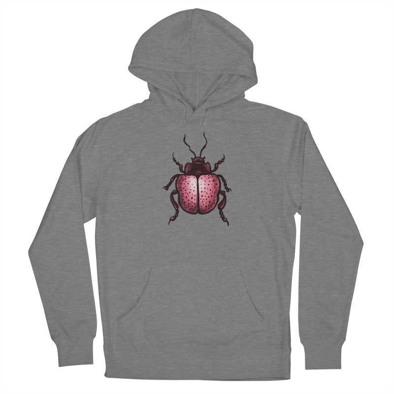 Pink Beetle With Dots Insect Art Women's Pullover Hoody by Boriana's Artist Shop
