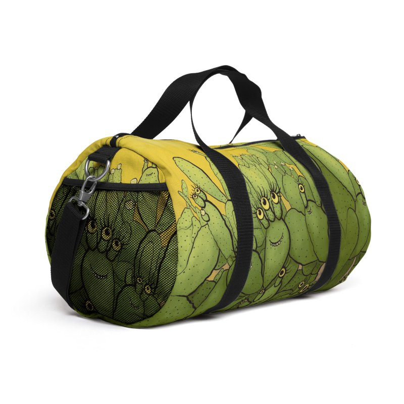 Funny Cactus Character Succulent Creatures Accessories Bag by Boriana's Artist Shop