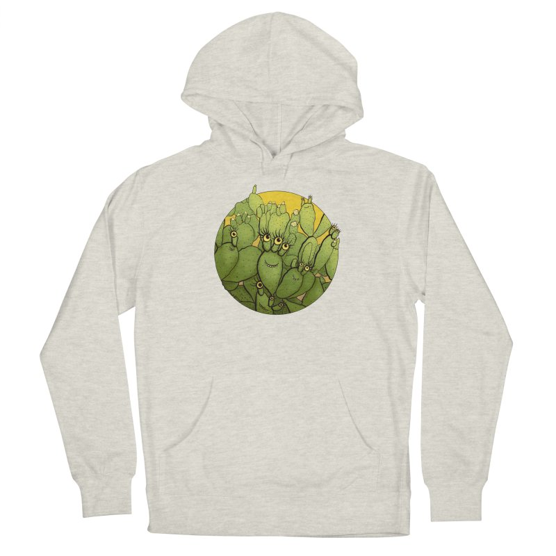 Funny Cactus Character Succulent Creatures Women's Pullover Hoody by Boriana's Artist Shop