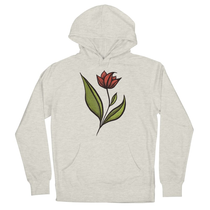 Beautiful Flower In Red Green With Distressed Texture Women's Pullover Hoody by Boriana's Artist Shop