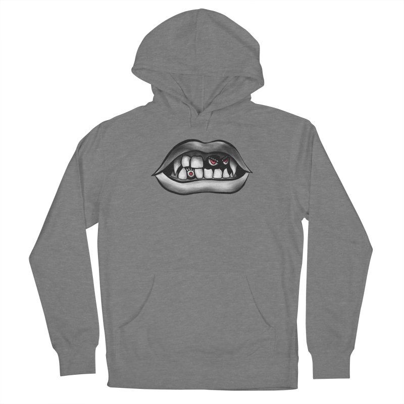 Vampire Mouth With Fangs And Evil Creatures Women's Pullover Hoody by Boriana's Artist Shop