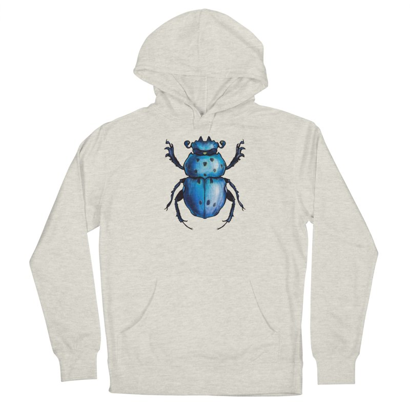 Blue Beetle Cool Insect Art Women's Pullover Hoody by Boriana's Artist Shop