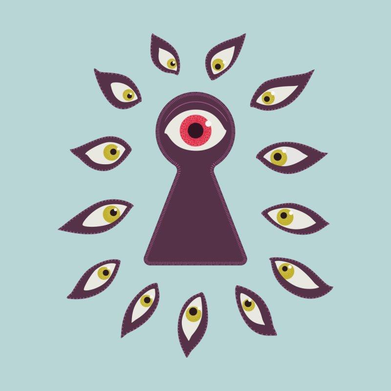 Eye Through Keyhole Staring Eyes Anxiety Home Fine Art Print by Boriana's Artist Shop