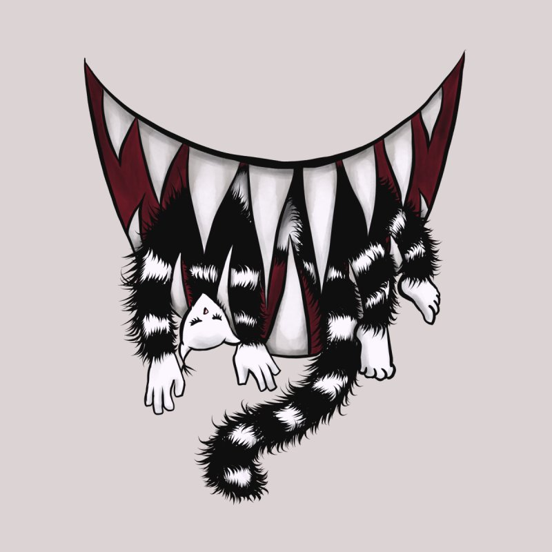 Sharp Teeth Monster Cat Eater Home Fine Art Print by Boriana's Artist Shop