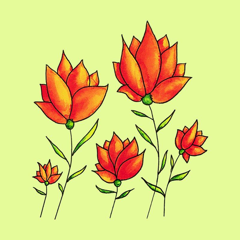 Orange Flowers Spring Watercolor Kids Toddler T-Shirt by Boriana's Artist Shop