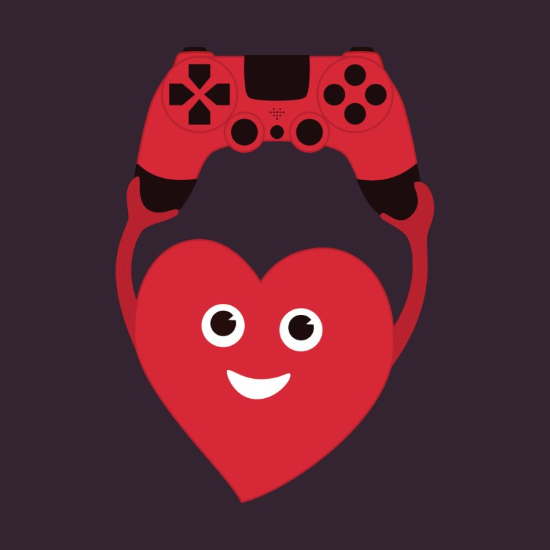 Gamer Heart by Boriana's Artist Shop