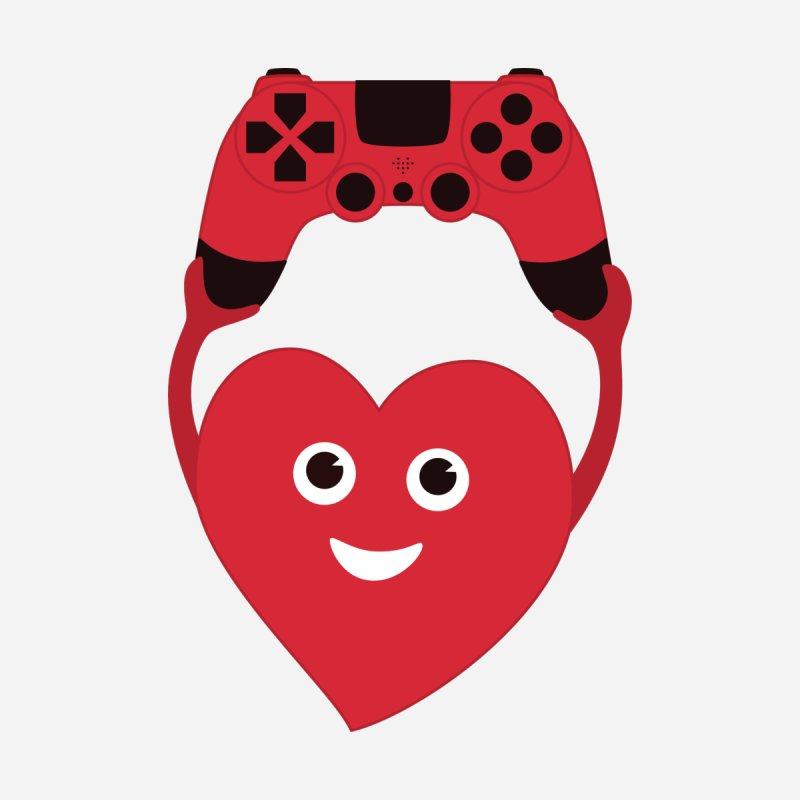 Gamer Heart by Boriana's Artist Shop