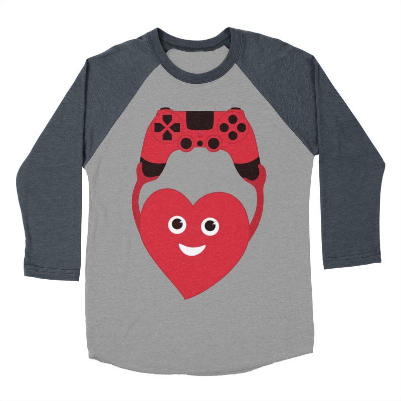 Gamer Heart Women's Baseball Triblend T-Shirt by Boriana's Artist Shop
