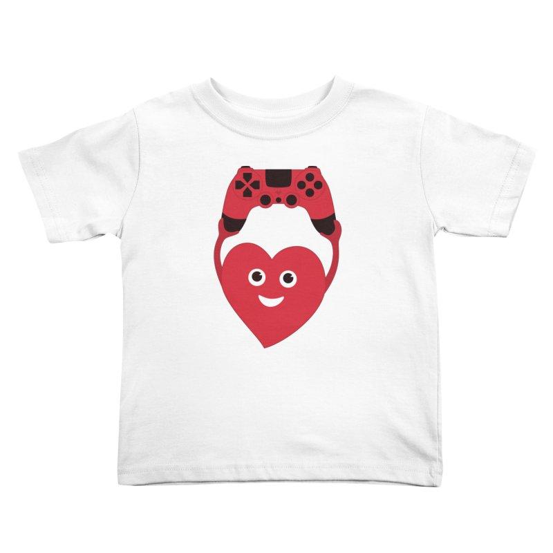 Gamer Heart Kids Toddler T-Shirt by Boriana's Artist Shop