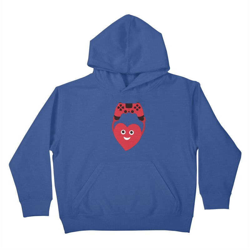 Gamer Heart Kids Pullover Hoody by Boriana's Artist Shop