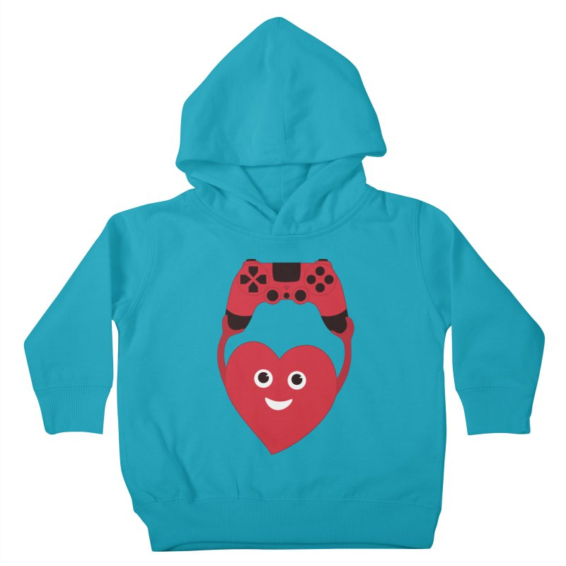 Gamer Heart Kids Toddler Pullover Hoody by Boriana's Artist Shop