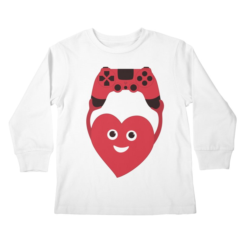 Gamer Heart Kids Longsleeve T-Shirt by Boriana's Artist Shop