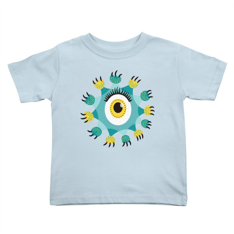 Cute Eye Monster Paws And Claws Kids Toddler T-Shirt by Boriana's Artist Shop