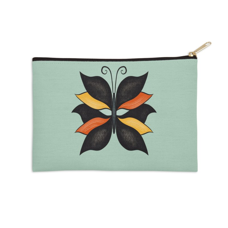 Beautiful Butterfly Weird Abstract Insect Accessories Zip Pouch by Boriana's Artist Shop
