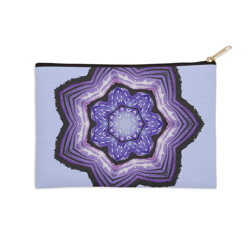Abstract Flower Resembling Geode Accessories Zip Pouch by Boriana's Artist Shop