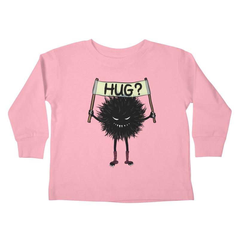 Monster Hug Cute Evil Character Kids Toddler Longsleeve T-Shirt by Boriana's Artist Shop