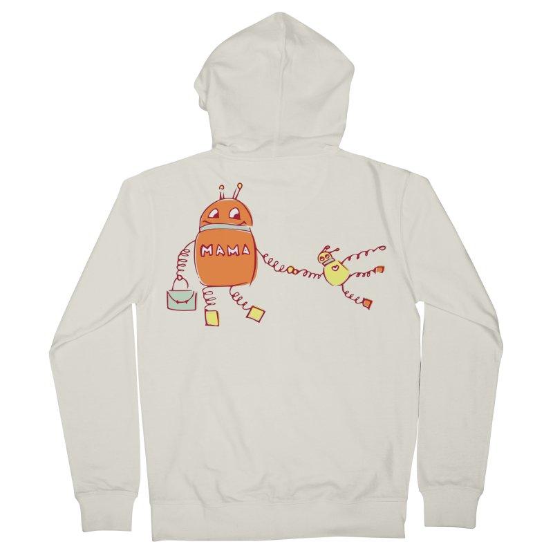 Robomama Men's Zip-Up Hoody by Boriana's Artist Shop