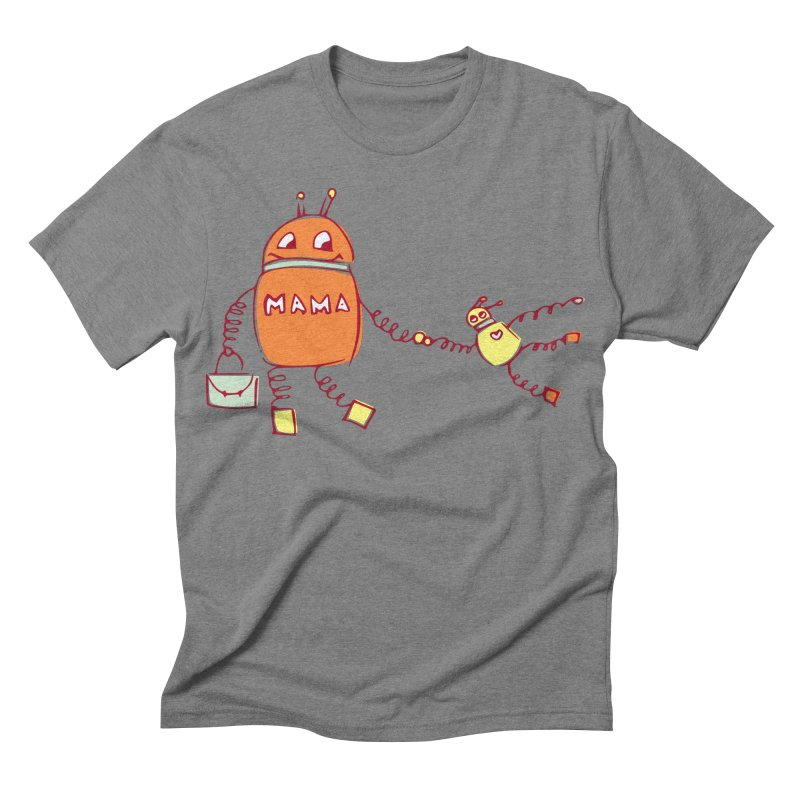 Robomama Men's Triblend T-shirt by Boriana's Artist Shop