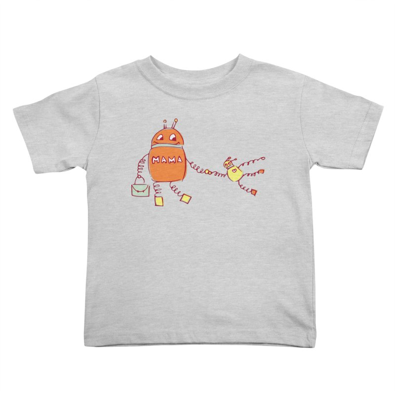 Robomama Kids Toddler T-Shirt by Boriana's Artist Shop