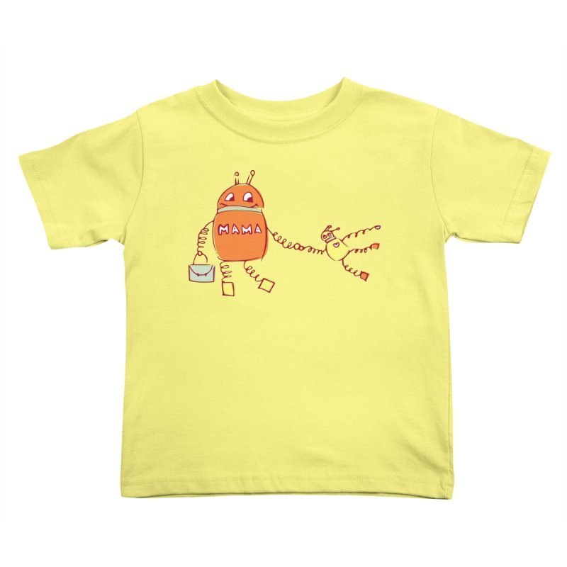 Robomama Kids Toddler T-Shirt by Boriana's Artist Shop