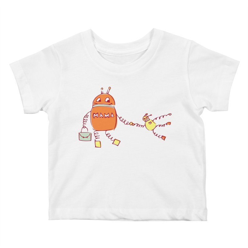 Robomama Kids Baby T-Shirt by Boriana's Artist Shop