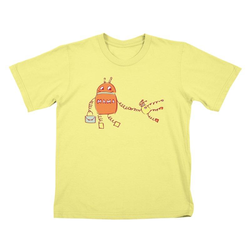 Robomama Kids T-shirt by Boriana's Artist Shop