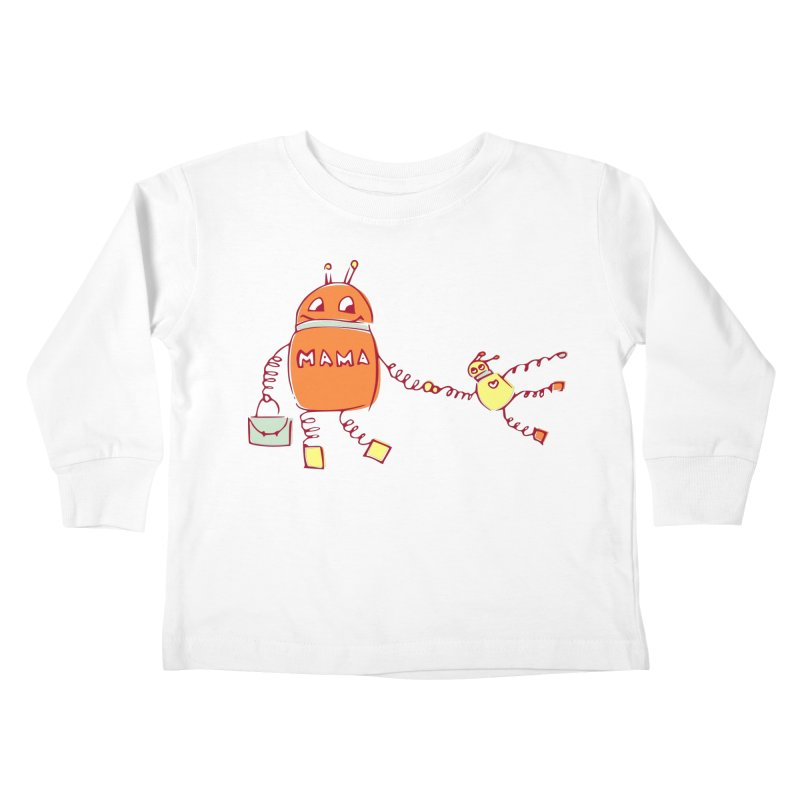 Robomama Kids Toddler Longsleeve T-Shirt by Boriana's Artist Shop