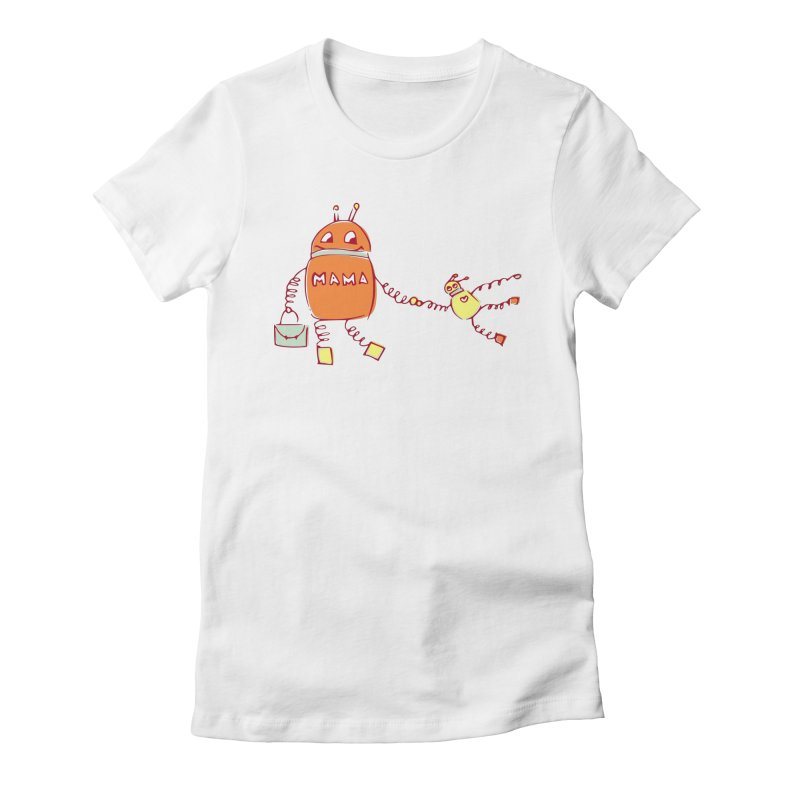 Robomama Women's Fitted T-Shirt by Boriana's Artist Shop